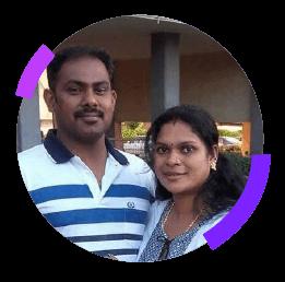 Jayesh Mon C. and Sheena C.